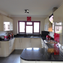 Contemporary Flat Gloss Laser Edged with Acrylic Worktops