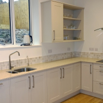 Contemporary Acrylic Seamless Solid Surface with Laminate Worktops